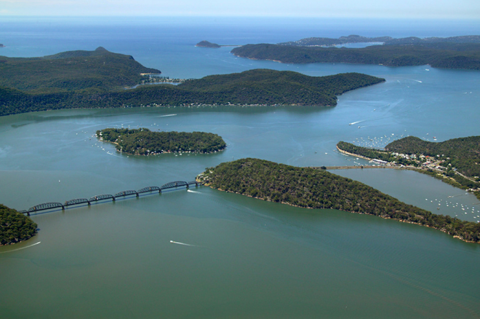 Hawkesbury River from the air