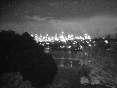 Skyline Webcam showing Night Monochrome Image